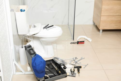 Plombier Bussy-Saint-Georges - Matériel de plomberie dans une salle d'eau.